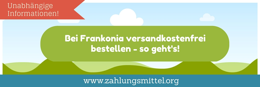 Bei Frankonia ohne Versandkosten bestellen mit einem Gutscheincode für versandkostenfreie Lieferung!