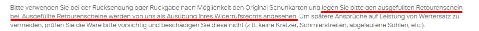 Bei Deichmann widersprechen