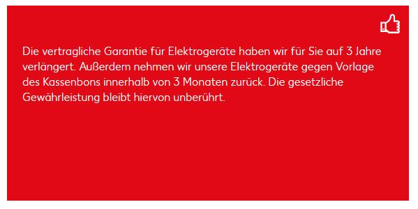 Elektrogerätegarantie bei Kaufland