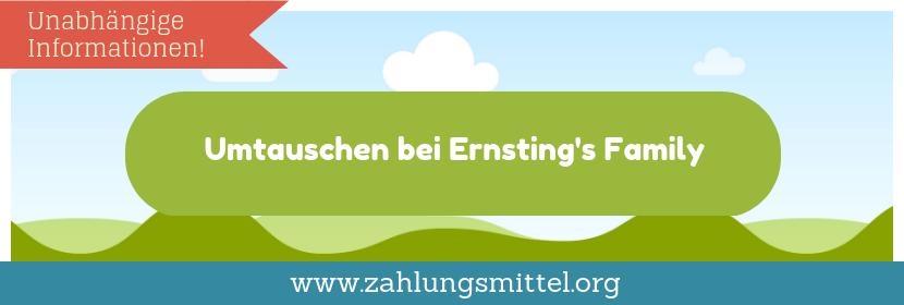 Bei Ernsting's Family umtauschen