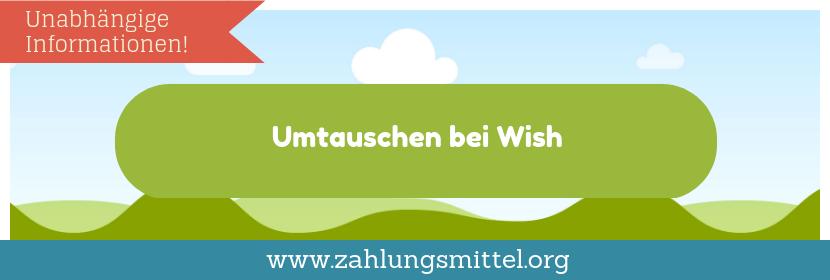 Rückgabe bei Wish