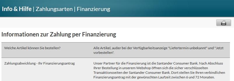 Grundlegende Infos zur Finanzierung