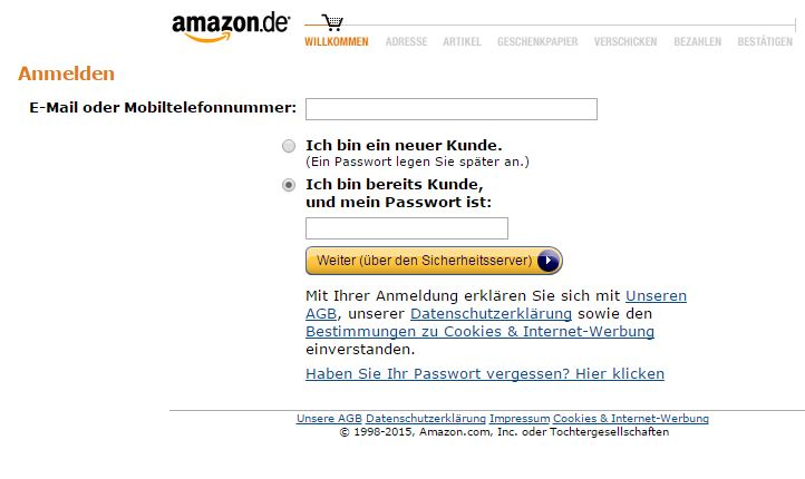 amazon-einloggen
