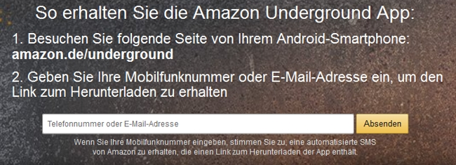 Amazon Handy App installieren