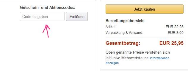 Der letzte Schritt bei Amazon ohne Konto bestellen