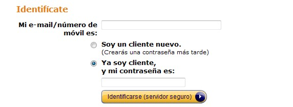 Amazon Spanien einloggen