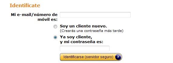 Amazon Spanien einloggen