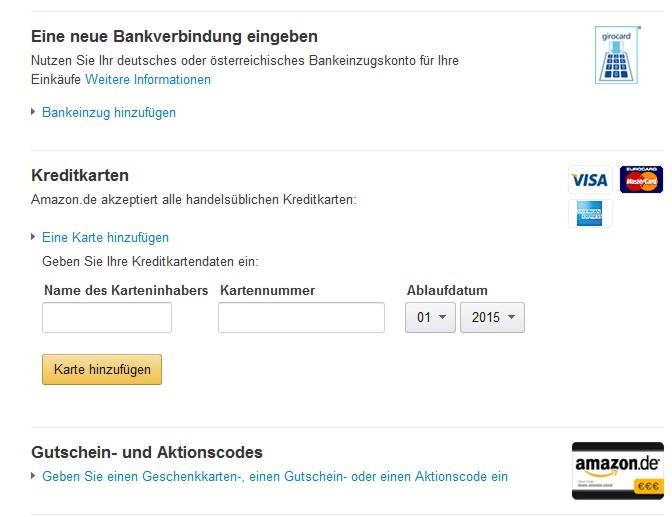 Amazon Bankeinzug Funktioniert Nicht