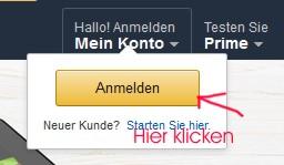 Amazon Kundenlogin