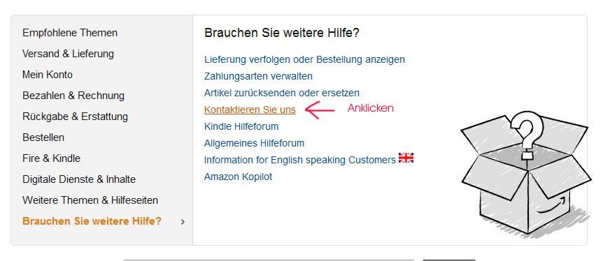 Amazon Kundenservice kontaktieren