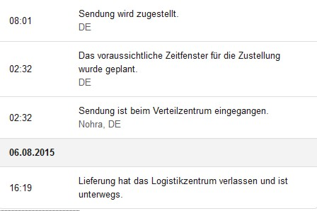 Amazon Lieferverfolgung im Detail
