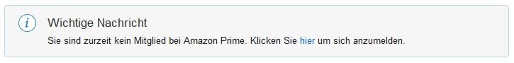 Amazon Prime kein Mitglied