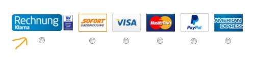 Asos Zahlungsart Klarna auswählen