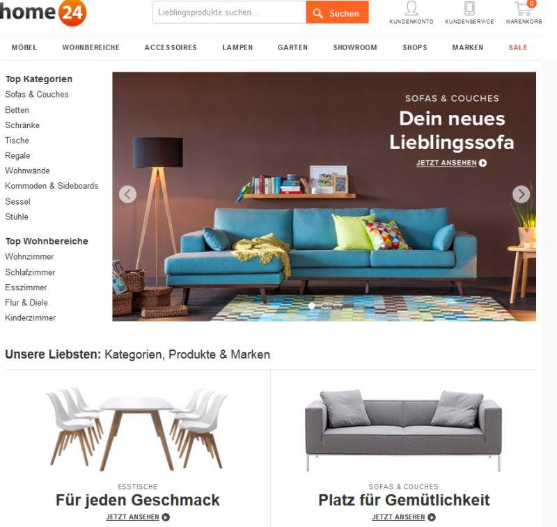 Möbel Versandhäuser shop übersicht möbel auf rechnung auch für neukunden