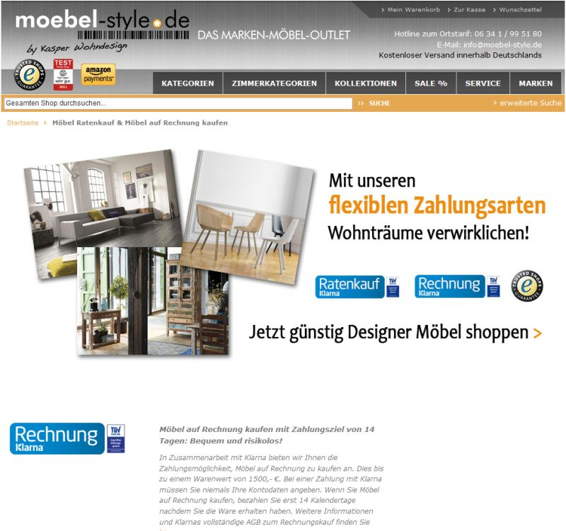 m bel auf raten kaufen shops mit ratenzahlung finden. Black Bedroom Furniture Sets. Home Design Ideas