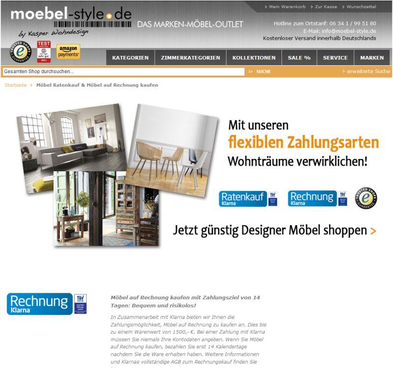 Möbel Shoppen möbel auf raten kaufen shops mit ratenzahlung finden