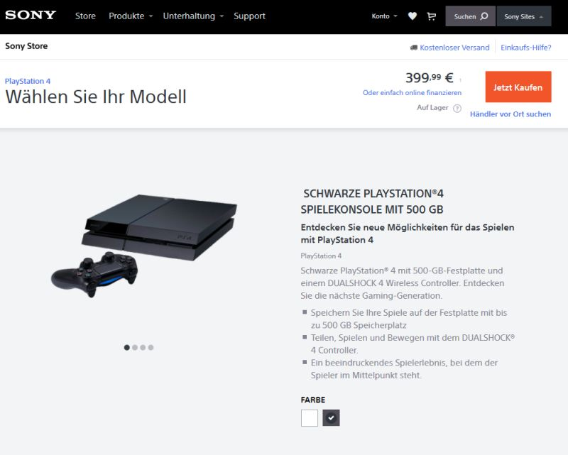 playstation 4 auf raten kaufen liste shops mit ratenzahlung. Black Bedroom Furniture Sets. Home Design Ideas