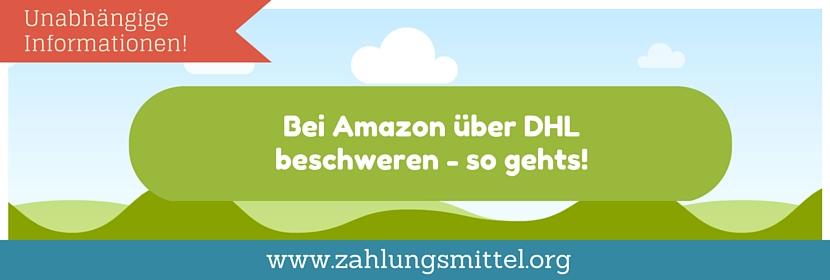 So Gehts Bei Amazon über Dhl Beschweren