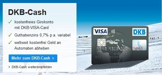 Die Visakarte der DKB