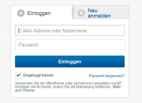 ebay einloggen nicht möglich