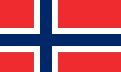 Die Fahne von Norwegen