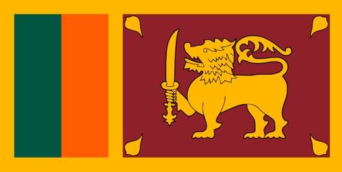 Fahne von SriLanka