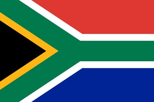 Fahne von Südafrika