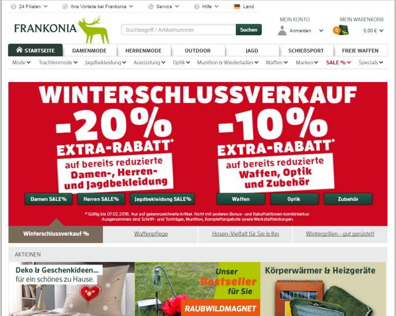 der frankonia-online-shop