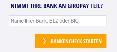 Mit Giropay bezahlen