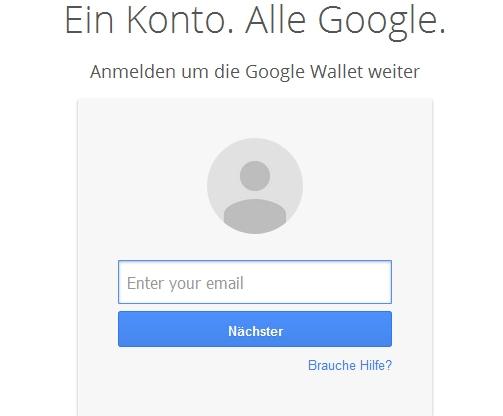 In das Google Konto einloggen