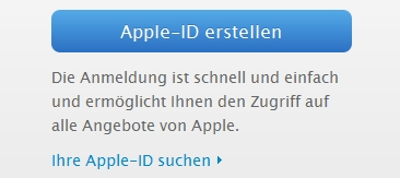 Apple ID bei iTunes erstellen