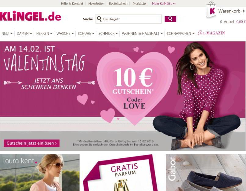 klingel online katalog