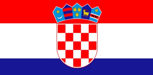 Fahne von Kroatien