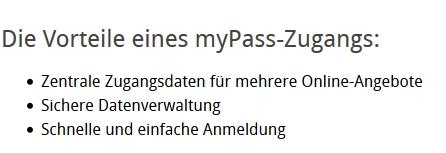 Eine Auflistung der Vorteile von myPass