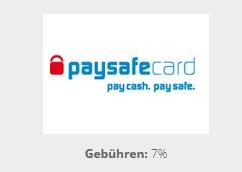 Info zur Einzahlung mit der Paysafecard