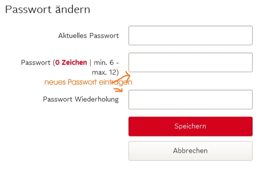 OTTO Passwort ändern