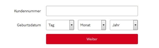 OTTO Passwort mit Kundennummer ändern