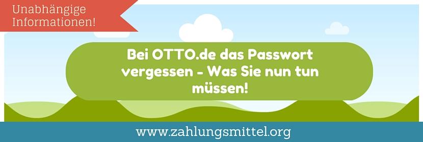 otto-passwort-vergessen