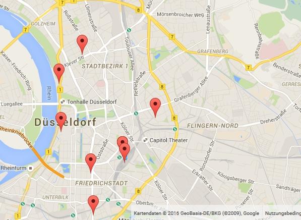 Darstellung einiger Partner in Duesseldorf