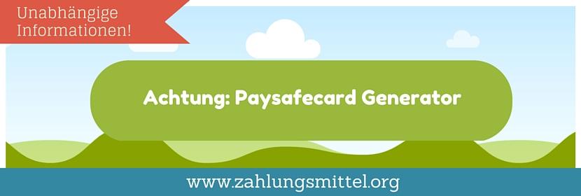 Das musst du wissen zum PaySafeCard Generator - Unbedingt lesen!