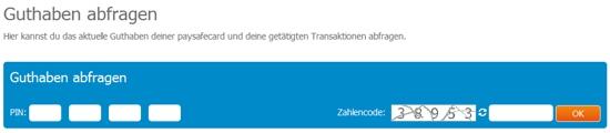 Paysafecard Guthaben ГјberprГјfen