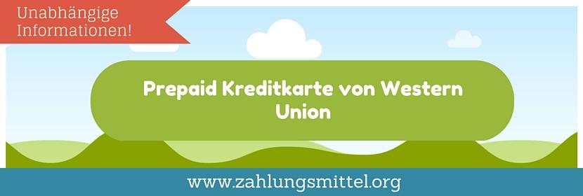Prepaid mit Western Union - So geht's!