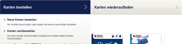 Die Ticket Plus Card bestellen