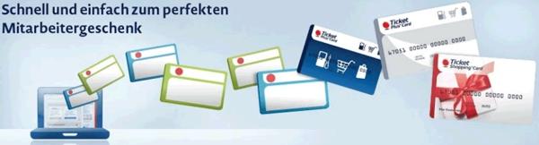 Ticket Plus Card als Mitarbeitergeschenk