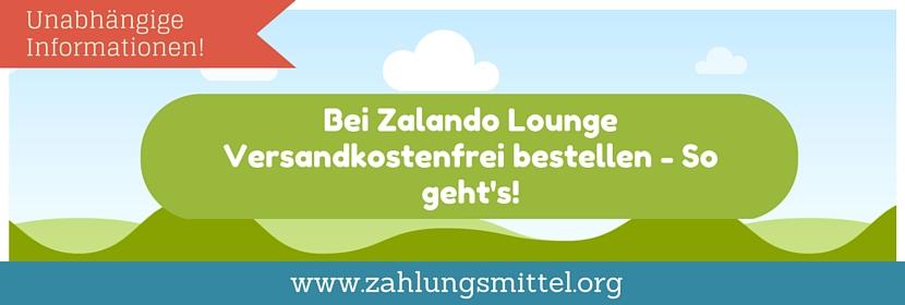 Zalando Lounge Rückgabe