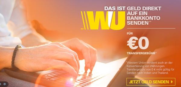 Gebühren bei Western Union