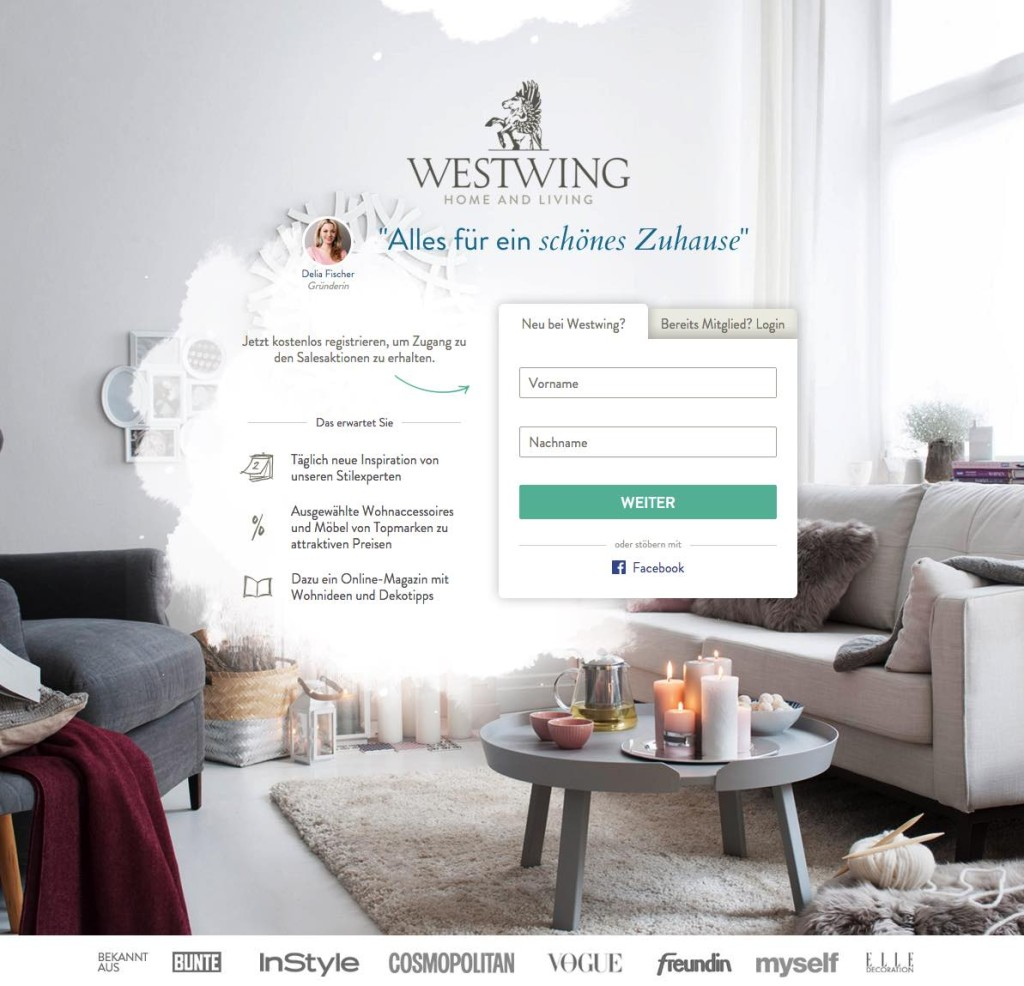 Der Westwing Onlineshop