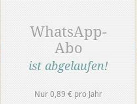 Gebühren zahlen bei Whatsapp