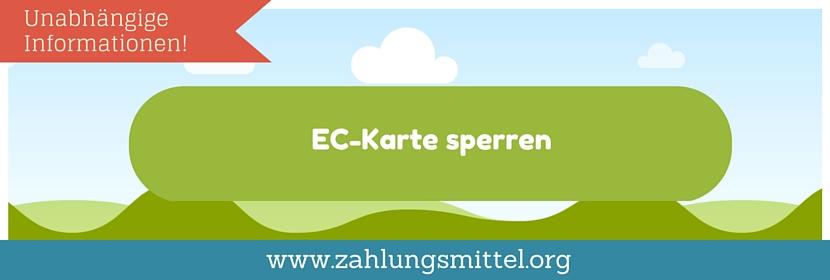 Wie kann man eine EC-Karte sperren?