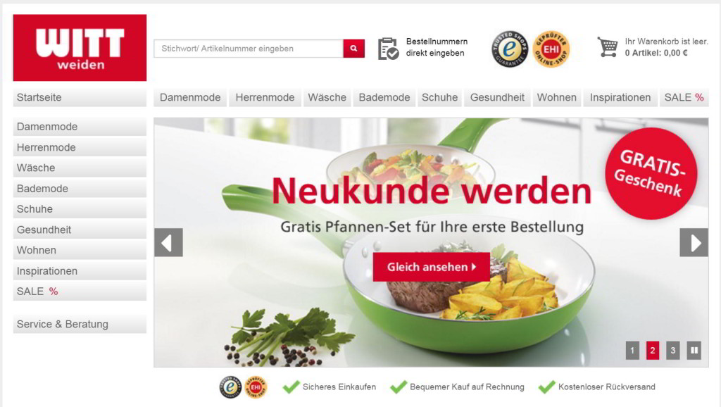 Witt Weiden Online Shop